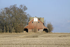 Double barn. Royalty Free Stock Photo