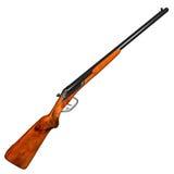 Double barrel shotgun Royalty Free Stock Photos
