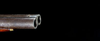 Double barrel Shotgun. Royalty Free Stock Photography
