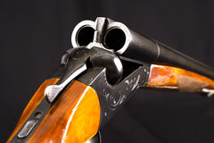 Double-barrelled hunting gun Stock Photo
