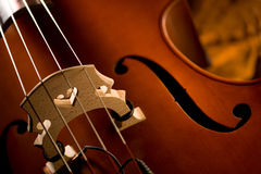 Double Bass. Close up of an double bass Royalty Free Stock Photography