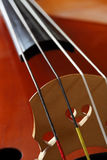 Double bass bridge Royalty Free Stock Images