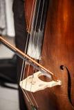 Double bass bridge Royalty Free Stock Image