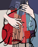 Double bass composition Stock Image