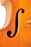 Double bass detail Royalty Free Stock Photography