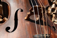 Double bass detail Stock Photo