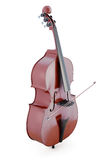 Double bass  on white background. 3d rendering Royalty Free Stock Photos