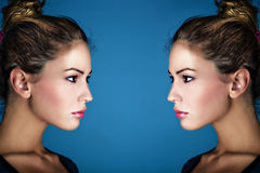 Double beauty Royalty Free Stock Images
