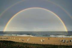 Rainbow Ocean Beach Sylt stock image