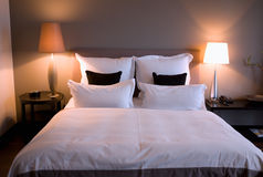 Double bed Stock Photography