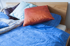 Double bed with bedding Royalty Free Stock Photos