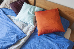 Double bed with bedding Royalty Free Stock Photo