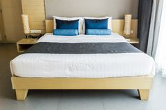 Double bed. Royalty Free Stock Photos