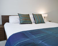 Double bed detail Stock Image