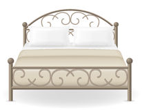 Double bed furniture vector illustration Stock Image