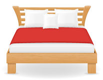 Double bed furniture vector illustration Royalty Free Stock Photo