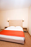 Double bed in the hotel Stock Image