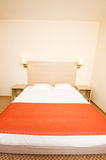 Double bed in the hotel Royalty Free Stock Photos