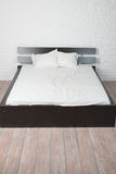 Double bed in the interior Royalty Free Stock Photography