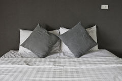 Double bed in the interior. Stock Photography