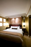Double bed in the modern interior room Royalty Free Stock Image