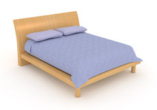 Double bed Stock Images