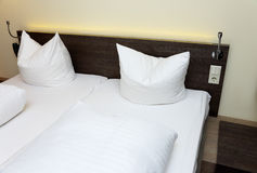 Double bed Stock Photo