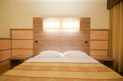 Double bed in the  room Royalty Free Stock Photo