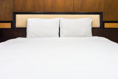 Double bed for two adults Stock Photos