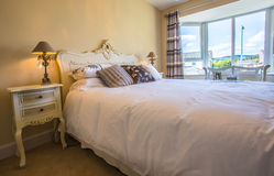 Double Bedroom. In a family home Royalty Free Stock Photos