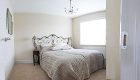 Double Bedroom. Standard double bedroom in semi detached house Royalty Free Stock Photography