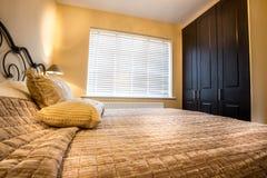 Double Bedroom. Standard double bedroom in semi detached house Stock Photography