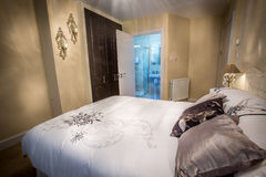 Double Bedroom. Standard double bedroom in semi detached house Royalty Free Stock Images