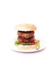 Double beef burger Stock Photos