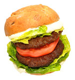 Double Beef Burger Sandwich Royalty Free Stock Photos
