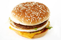 Double beefburger Royalty Free Stock Images