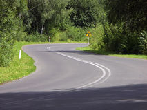 Double bend road Royalty Free Stock Images
