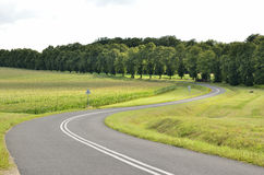 Double bend on the road Royalty Free Stock Images