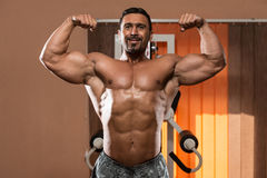 Double Biceps Pose Royalty Free Stock Photos