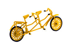 Double bicycle toy decor isolated on white Royalty Free Stock Photos