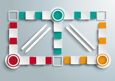 Double Big Colored Banners Arrwos Batched Rectangl Royalty Free Stock Photo