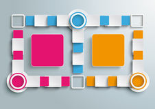 Double Big Colored Banners Batched Rectangles Info Stock Image