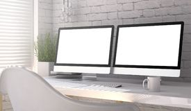 Double blank screen Royalty Free Stock Images