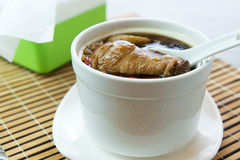 Double boiled chicken congee with mixed herb Stock Images