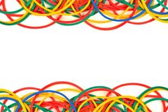Double border of elastic rubber bands Stock Photography
