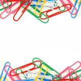 Double border of paper clips Royalty Free Stock Photos