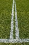 Double boundary line of a playing field Stock Photography