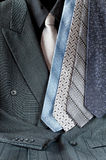 Double-breasted Suit and Tie Assortment Royalty Free Stock Images