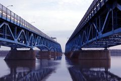Double Bridge stock images