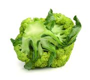 Double broccoli group  on white background Stock Images